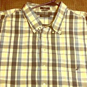 Nautica Short Sleeve Button Down Size 4X